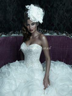 big crystal wedding dress