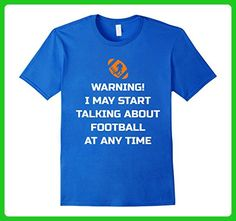 Mens Football Shirt Warning! I May Start TALKING ABOUT FOOTBALL 3XL Royal Blue - Sports shirts (*Amazon Partner-Link)