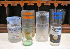 Turn bottles into glasses