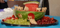 """Kevin made this for Luke's """"Noah's Ark"""" themed Baptism party!"""