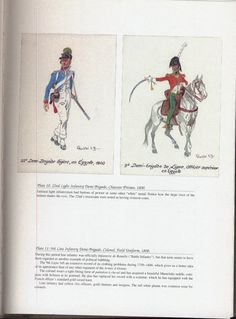 Army of Egypt: Plate 10: 22nd Light Infantry Demi-Brigade, Chasseur Private, 1800. + Plate 11: 9th Line Infantry Demi-Brigade, Colonel, Field Uniform, 1800.