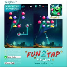 Tanglers™ - Matching game against the clock. Full review at: http://fun2tap.com/index.cfm#id228 --------------------------------------  #Apps  #Games #iPad #iPhone #Casualgames