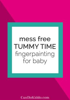 mess free tummy time finger painting activity - perfect for baby play…