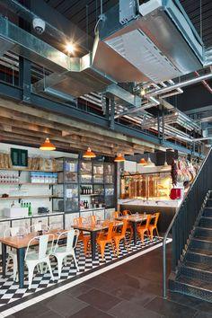 Jamie's Italian in Westfield, Stratford City, London by design agency Blacksheep