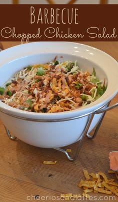 Barbecue Chopped Chicken Salad #saladrecipes #barbecue #barbecuechicken