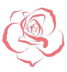 vector line art free rose heart - Bing images Rose Outline Tattoo, Flower Outline, Rose Drawing Simple, Simple Rose, Line Drawing Images, Red Roses Background, Rose Line Art, Outline Drawings, Rose Drawings