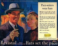 Men today still wear hats, but are most often confined to ratty baseball caps, when they should try a fedora, porkpie, flatcap, derby or other classics.