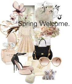 """""""Spring Welcome."""" by papadimitriou-alexandra ❤ liked on Polyvore"""