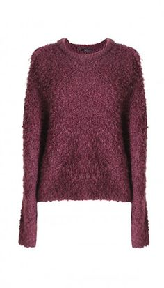 Fall 2015 Tibi Boucle Cropped Cozy Pullover