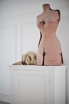 Very shabby unique vintage mannequin by WhiteandFaded on Etsy