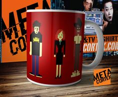 The IT Crowd Pixel Characters Mug