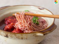 Red Glutinous Wine Mee Sua Simple recipe for making Foo Chow Red Glutinous Wine mee sua with chicken, plus information on where to buy the ingredients in Sitiawan, Perak, Malaysia.