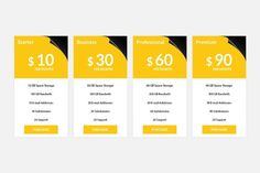 Pricing Table by Youme Techworld on @creativemarket