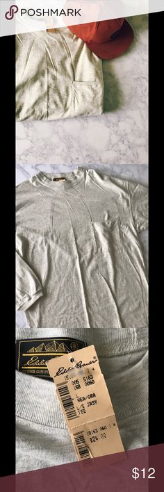 NWT Eddie Bauer Long sleeve Shirt Eddie Bauer Long Sleeve Shirt. Brand new! Tan and cream shirt. Measurements:L-31in. W-22in. Eddie Bauer Shirts Tees - Long Sleeve