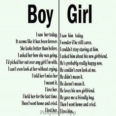 True - well, honestly I don't know if that's how 'boys' feel or not.... from my experience it's not...