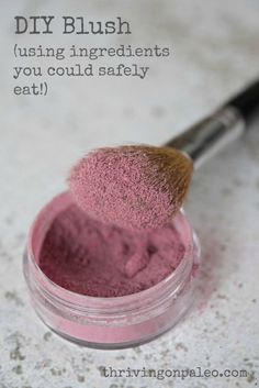 DIY Natural Blush by Thriving On Paleo (with video tutorial)