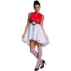 Pokemon Pokeball Dress Adult Costume ($58) ❤ liked on Polyvore featuring costumes, halloween costumes, adult pokemon halloween costumes, adult pokemon costumes, adult costumes, adult halloween costumes and pokemon costumes