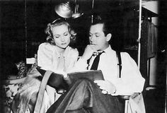 Carole Lombard  Robert Mongomery on set Mr and Mrs Smith