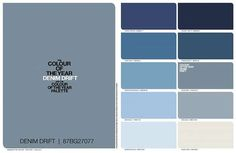 Blue is the Hue for Dulux 2017 Blue is the Hue for Dulux 2017 - Dulux predict that Denim Drift with be THE colour for 2017 Shabby Chic Bedrooms, Shabby Chic Cottage, Shabby Chic Homes, Shabby Chic Paint Colours, Shabby Chic Painting, Blue Bedroom, Bedroom Colors, Bedroom Colour Schemes Blue, Hallway Colours