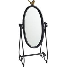 Pier One Tabletop Mirror ($15) ❤ liked on Polyvore featuring home, home decor, mirrors, furniture, bird stand, oval pivot mirror, golden mirror, antique wash stand and antiqued mirror