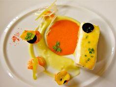 Как выглядит обед в лучшем ресторане мира  Нежный атлантический палтус с копченым молодым чесноком и лангустом.