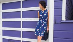 Dress With Built-In Carrying Pouch Betabrand, Travel Dress, Get Dressed, Flower Prints, New Work, Carry On, Work Wear, Wrap Dress, Pouch