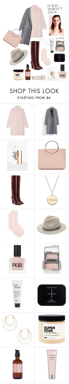 """""""Oversized Shirt"""" by cassiecronk ❤ liked on Polyvore featuring MM6 Maison Margiela, WithChic, Missguided, Future Glory Co., Marc Jacobs, New Directions, Saks Fifth Avenue, RGB Cosmetics, Hourglass Cosmetics and philosophy"""