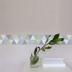 Frise adhésive murale triangle scandinave Smart Fifi Mandirac deco clico #frise #kids #enfants