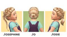 Toddlers Hair I by blogsimplesimmer via tumblr I Sims 4 I TS4 I Maxis Match I MM I CC