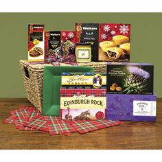 Christmas Classic Hamper from the Scottish Gourmet USA filled with ten Christmas treats from Scotland.