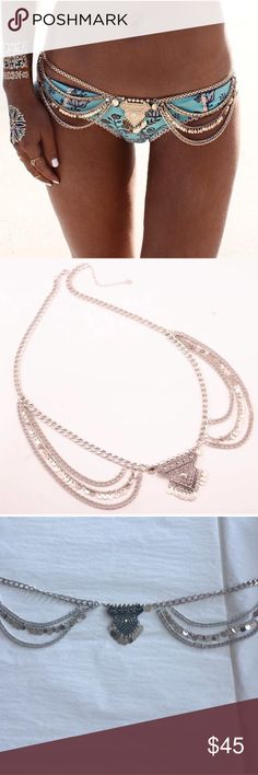 "Silver Boho Hip Body Chain Brand new.  Before leaving a comment: 🌹No trades 🌹Click ""offer"" for reasonable offers 🌹No lowballs or rude comments 🌹Item is unbranded 🌹I only sell on posh 🌹I do not model 🌹I ship same day or next day 🌹If you're interested in bundling, create your bundle and we can negotiate a price from there! 🌹If I don't respond, it's because your question was answered here! Nasty Gal Jewelry"