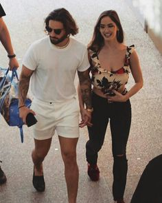 Likes, 48 Comments - 𝒩𝒶𝓉𝒶𝓁𝓊𝓂𝒶 Couple Outfits, Casual Outfits, Famous Couples, Perfect Boy, Latest Images, Celebs, Celebrities, Summer Shorts, Pretty Boys
