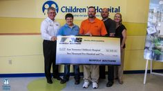 Norfolk Southern Railroad are regular supporters of East Tennessee Children's Hospital. Pictured, from left: Keith Goodwin, Jenni LeVan, Brad Duncan, Jim Thacker and Danni Varlan