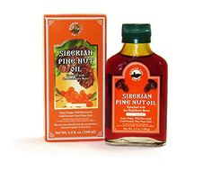 Pine Nut Oil Enriched with Sea Buckthorn. 3.5 Fl. Oz. (100 Ml). Therapeutic Grade, Extra Virgin, Cold-pressed, First Press Only. 100% Natural and Authentic. Pressed From Wild Harvested, Organic, Raw Pine Nuts. http://www.amazon.com/Pine-Nut-Oil-Cold-pressed-Refrigerated/dp/B00PHWG0XW/ref=pd_sim_sbs_325_21?ie=UTF8&refRID=0GTVW8S5QNG58FJBYQ83
