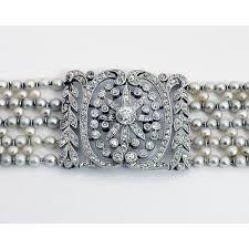 Belle Epoque Edwardian Natural Pearl Diamond Platinum Choker