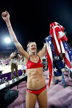 Amazing and Inspiring: Walsh Jennings was five weeks pregnant during her historic Olympic medal run in London.