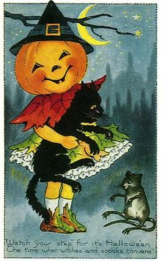 ✯ Old Card- Halloween Mouse :: By Grl4Art ✯