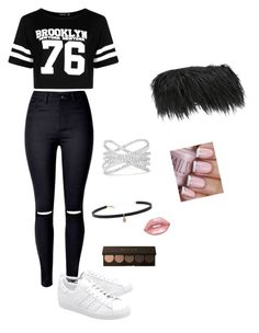 """""""Untitled #325"""" by sophiehemmings18 ❤ liked on Polyvore featuring MM6 Maison Margiela, Boohoo, adidas Originals, Effy Jewelry, Carbon & Hyde and Lime Crime"""