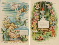 MERMAIDS and ELVES FAIRY Soap 2 Prints from 1898 Advertising Booklet. $28.00, via Etsy.