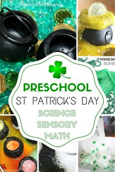 Our favorite preschool St Patricks Day activities for science, sensory play, STEM, and more with playful early learning St Patricks Day ideas!