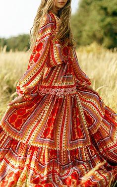 Yanina | print maxi dress