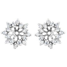 048 crt Cubic Zirconia Mounted In Sterling Silver Earring Jackets ** Visit the image link more details.