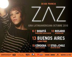 ZAZ confirma gira latinoamericana por Bogotá, Buenos Aires y Santiago - Estereofonica