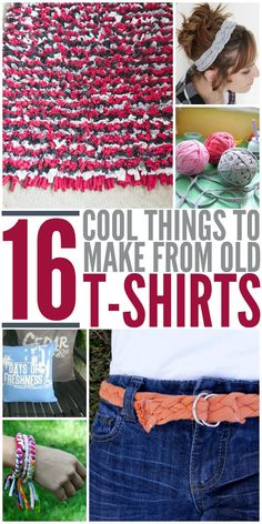 Awesome DIY t shirt projects that are most no sew! Those are my kind of upcycle crafts!
