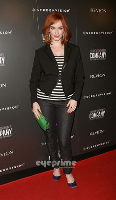 Love this simple yet sophisticated outfit...Christina Hendricks, you rock!
