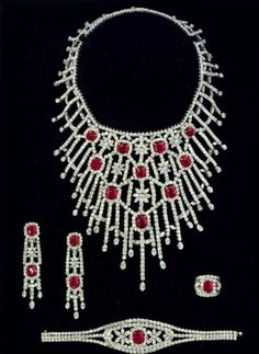 Diamon and Ruby parure by Jahan