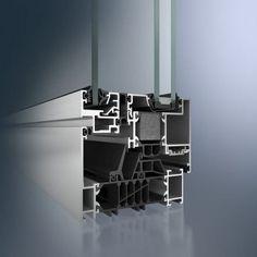 Casement window / aluminum / triple-glazed / thermal break AWS 105 CC.HI Schüco