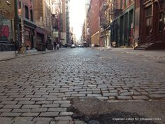 History of Streets: Crosby Street in Soho... Crosby Street in Soho harkens back to the bygone days of an old artistic and industrial Soho, one not inundated with high end chain retailers.
