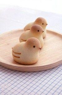 petits poussins en pâte d'amande / marzipan chicks