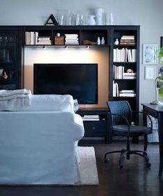 this is a pretty slick entertainment center... ikea-living-room-design-ideas-2012-13